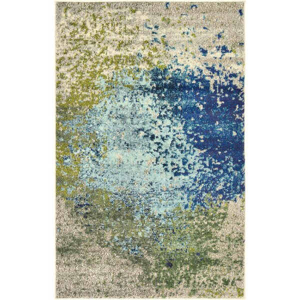 Attractive World Menagerie Hayes Blue/Green Area Rug U0026 Reviews | Wayfair