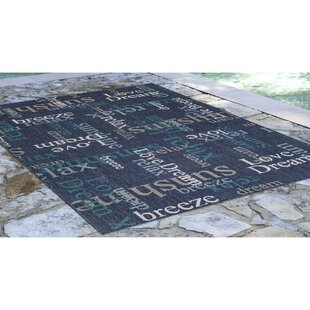 Natoli Happy Words Navy Indoor/Outdoor Area Rug