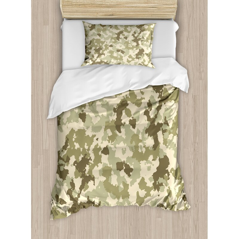 Teen Bedding Camouflage Army Duvet Cover Set Wallpaper