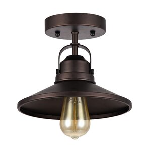 Bouvet 1-Light Semi-Flush Mount