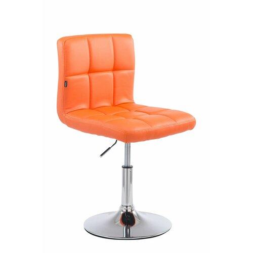Höhenverstellbarer Barhocker Crewe | Küche und Esszimmer > Bar-Möbel | Orange | Polyurethan - Metall | ModernMoments