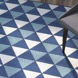 Amora Blue Geometric Indoor/Outdoor Area Rug