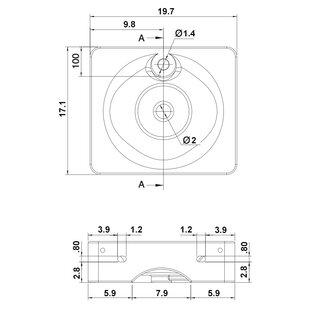Compare Fuji Ceramic Rectangular Vessel Bathroom Sink ByScarabeo by Nameeks
