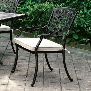 Mclea Patio Dining Chair with Cushion