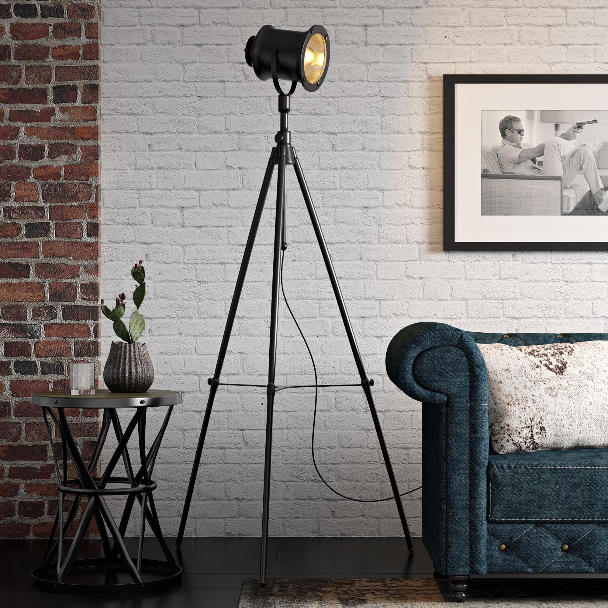 17 Stories Clementina 74 Led Tripod Floor Lamp Reviews Wayfair