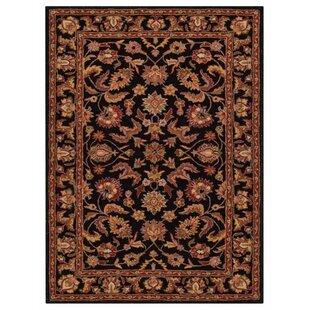 Rachelle Hand-Tufted Wool Black/Beige Indoor/Outdoor Area Rug ByAlcott Hill