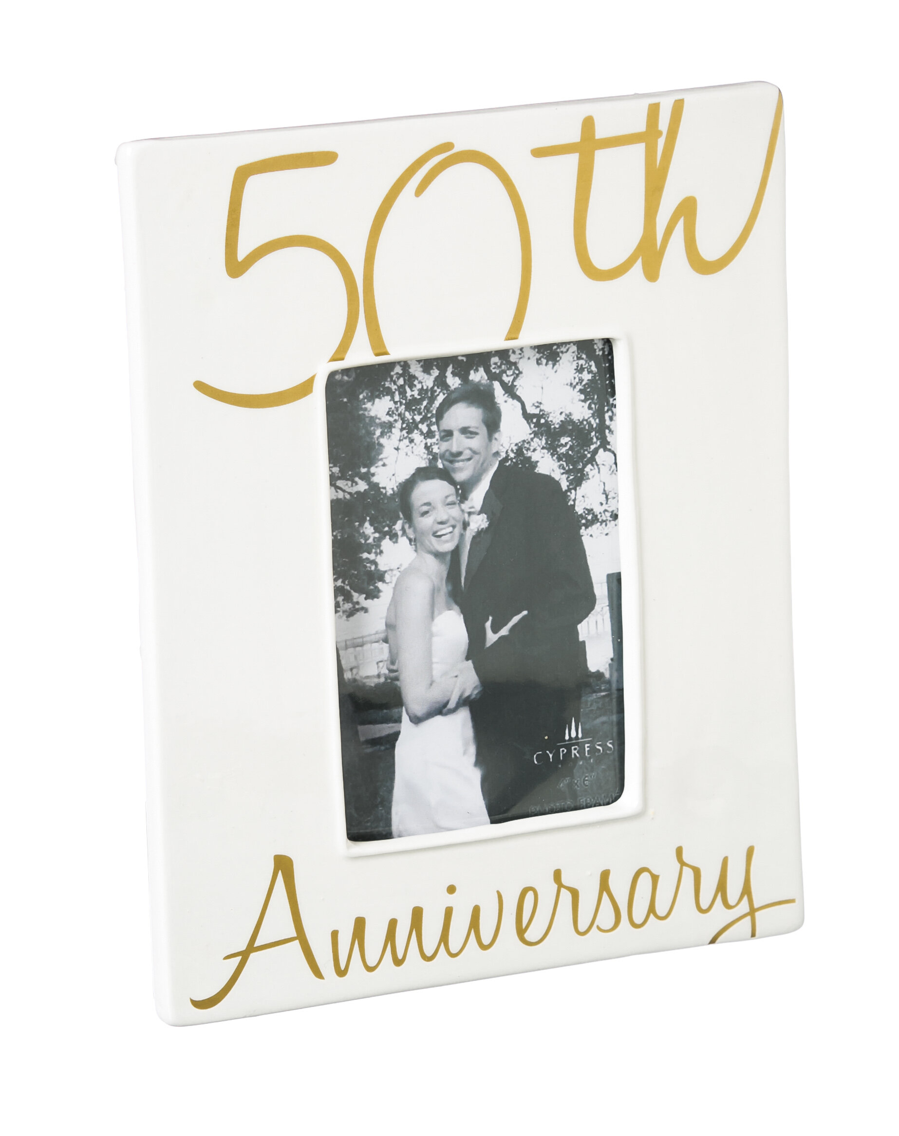 Andover Mills 50th Anniversary Ceramic Picture Frame & Reviews | Wayfair