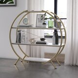 Amelia 49.2 H x 49.6'' W Metal Etagere Bookcase by CosmoLiving by Cosmopolitan