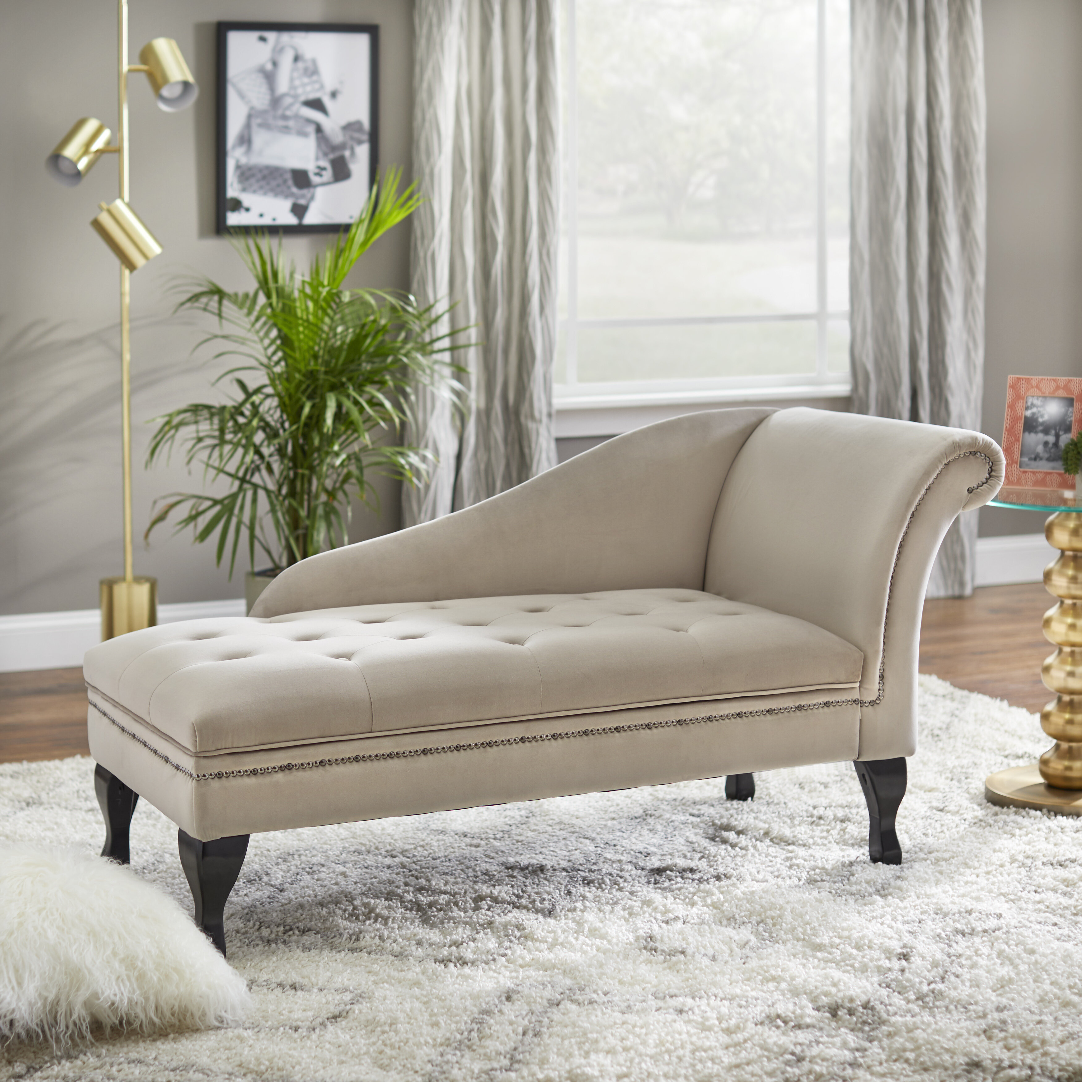 - Rosdorf Park Mcnair Storage Chaise Lounge & Reviews Wayfair