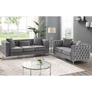 Marti Hickory Modern 2 Piece Living Room Set by House of Hampton