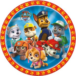 Paw Patrol Paper Disposable Dessert Plate (Set Of 8) by NA Wonderful