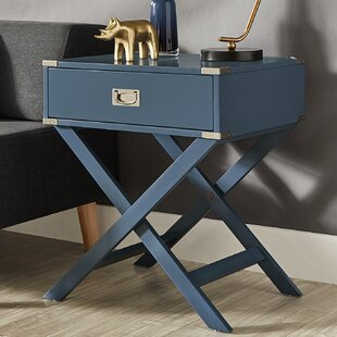 Review Marotta 1 Drawer End Table by Mercury Row