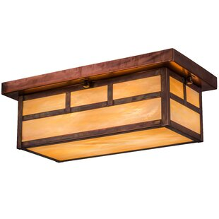 Top Alyce 2-Light Outdoor Flush Mount By Bloomsbury Market