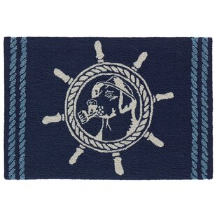 Eklund Seadog Hand-Woven Blue Indoor/Outdoor Area Rug