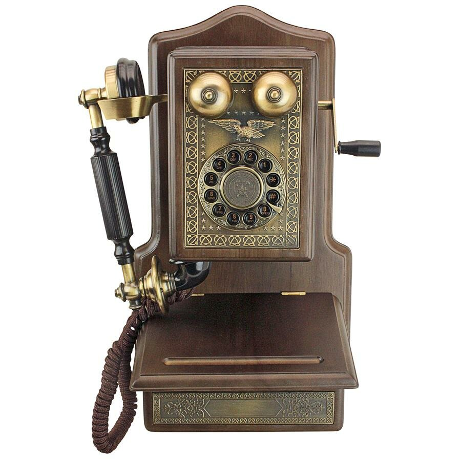 Antique Country Kitchen Decor 1907 Rotary Wall Telephone