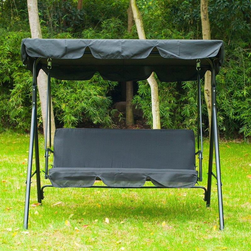 Katelynn 3 Person Canopy Porch Swing & Freeport Park Katelynn 3 Person Canopy Porch Swing u0026 Reviews | Wayfair