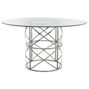 Petrella Glass Top Dining Table Orren Ellis