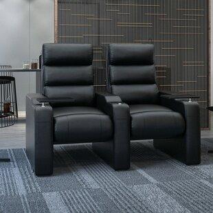 Manual Rocker Recline Home Theater Row Seating (Row of 2) by Latitude Run