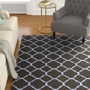 Compare & Buy Fullerton Black/Blue Geometric Area Rug ByAlcott Hill