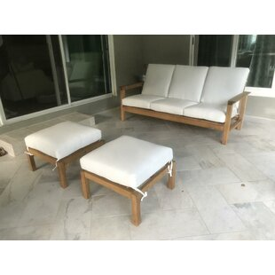 Cotter 3 Piece Sofa Set with Cushions