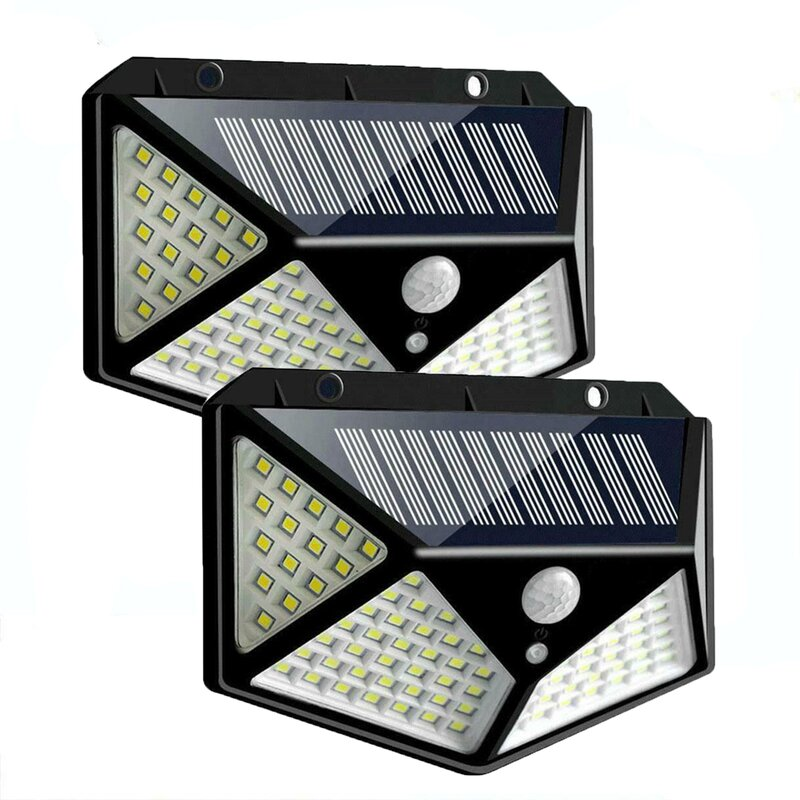 Arlmont Co Poynor Led Solar Power Dusk To Dawn Outdoor Security Wall Pack With Motion Sensor Pack Of 2 Reviews Wayfair