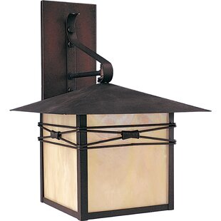 Inexpensive Firebaugh 1-Light Outdoor Wall Lantern By Loon Peak