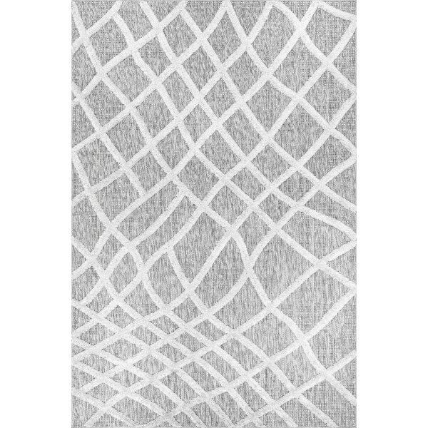Union Rustic Geraldine Striped Gray Area Rug Wayfair