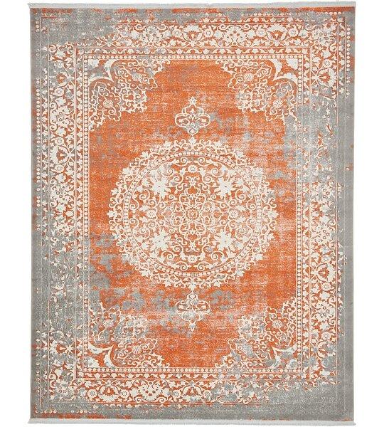 High Quality World Menagerie Colebrook Orange Area Rug U0026 Reviews | Wayfair