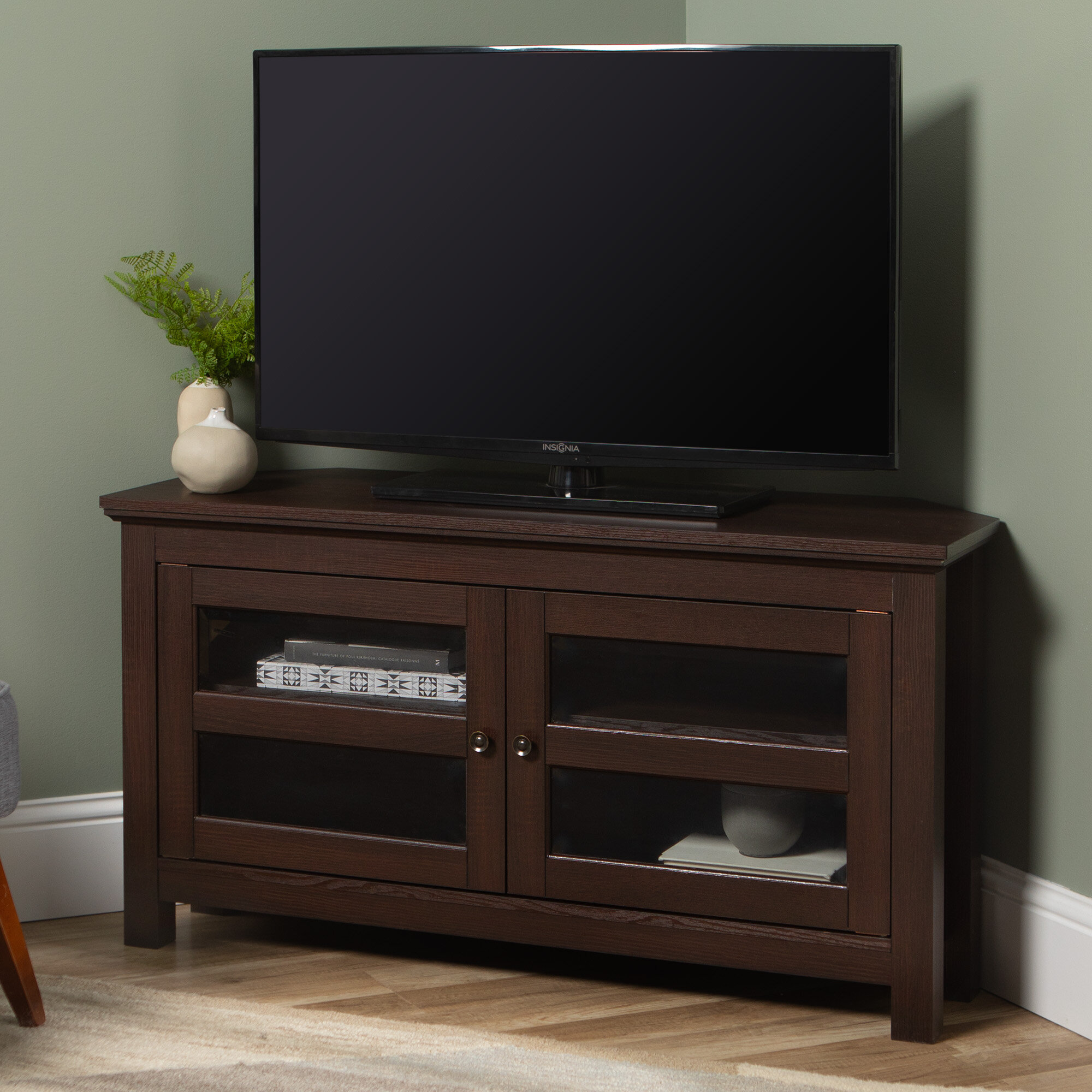 Andover Mills Aurelio Corner Tv Stand For Tvs Up To 48 Reviews Wayfair