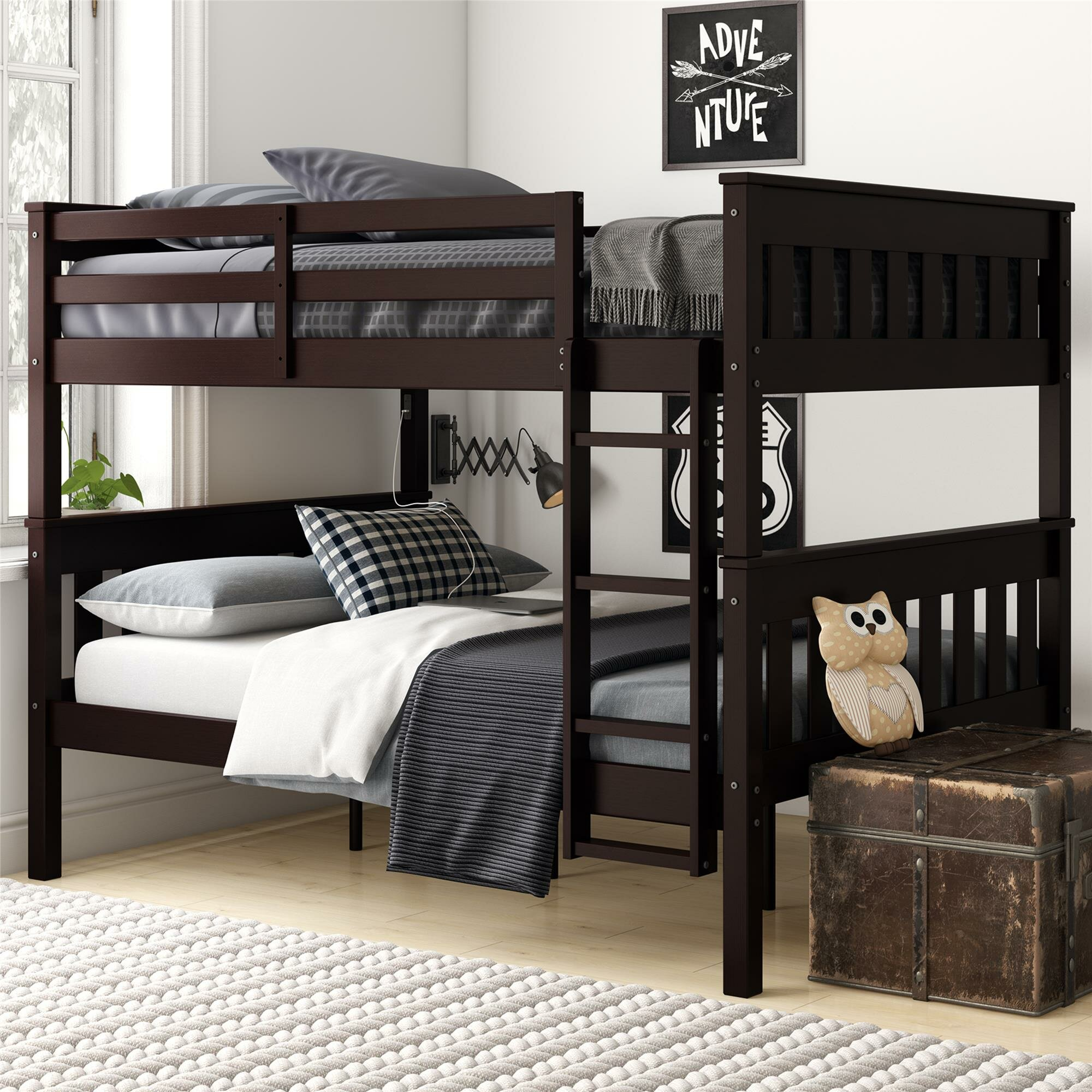 Almedacheatham Full Over Full Bunk Bed Reviews Birch Lane