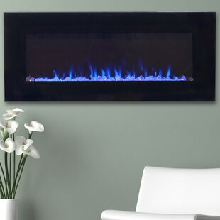 Aida Wall Mounted Electric Fireplace by Wade Logan