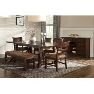 Alexandria 7 Piece Dining Set Loon Peak