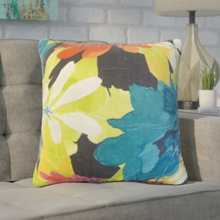 Zavijah Floral Cotton Throw Pillow (Set of 2)