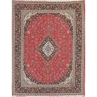 Buying Stemple Classical Soft Plush Kashan Persian Red/Black Area Rug ByWorld Menagerie