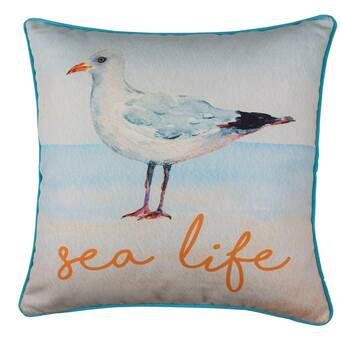 Rosecliff Heights Zella Sea Robin Outdoor Throw Pillow Wayfair