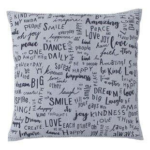 Vicente Words Cotton Throw Pillow