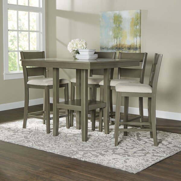 brantford 5-piece counter-height dining set & reviews | birch lane