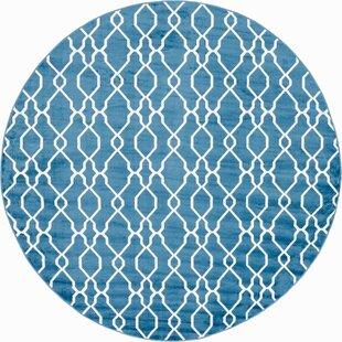 Karan Blue Indoor/Outdoor Area Rug by Brayden Studio