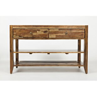 Camacho Transitional Wooden Console Table by Millwood Pines