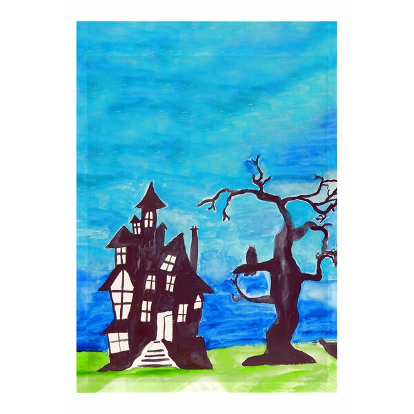 Betsy Drake Interiors Haunted House 2 Sided Garden Flag Wayfair