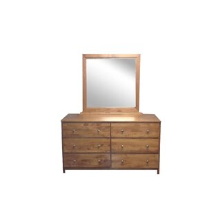 Marnie 6 Drawer Double Dresser with Mirror