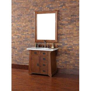 Coraima 36 Single Antique Oak Bathroom Vanity Set by Loon Peak