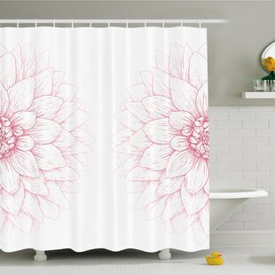 Bushy Sunflower Daisy Petals Image Shower Curtain Set by East Urban Home