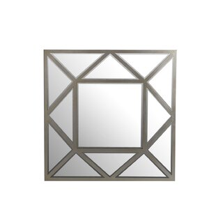Willa Arlo Interiors Square Metal Bevel Wall Mirror