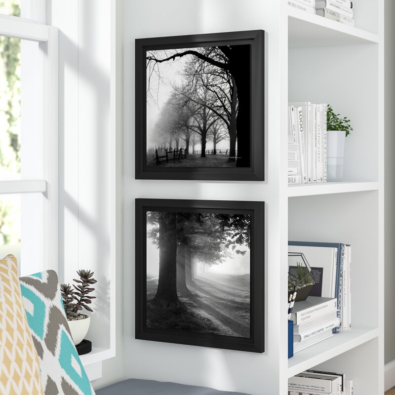 Wrought Studio Misty Trees\' 2 Piece Framed Photographic Print Set ...