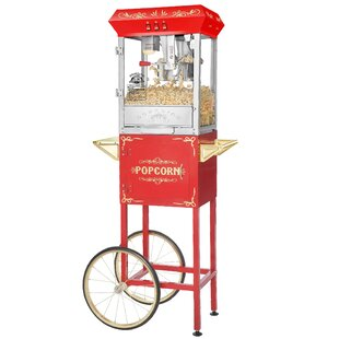 8 Oz. Carnival Popcorn Popper Machine with Cart