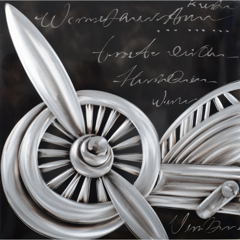 Industrial Wall Decorations - Starboard Wing Painting on Metal