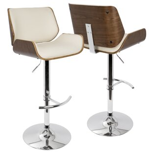 Burney Adjustable Height Swivel Bar Stool by Wade Logan