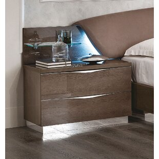 Gary 2 Drawer Nightstand
