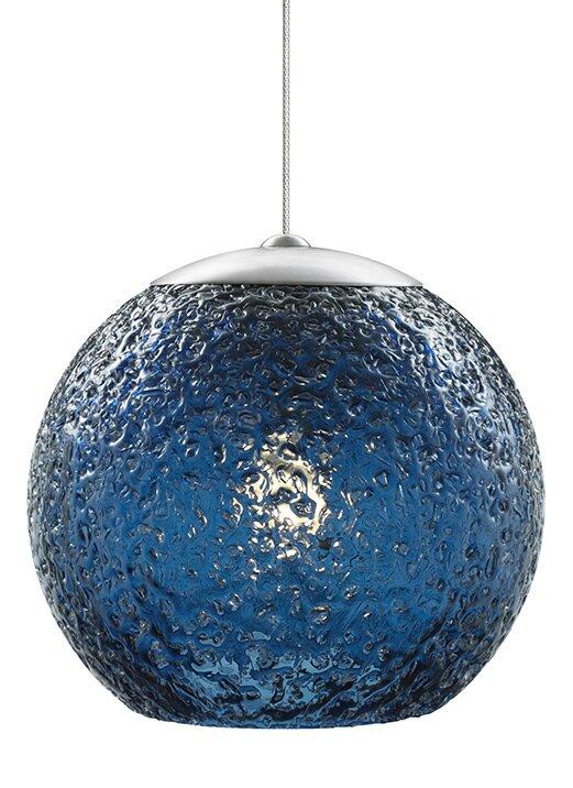 Globe-Rock Candy Round 1-Light Monorail Pendant